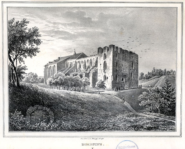 A depiction of the cathedral made in 1837 by the painter Woldemar Friedrich Krüger