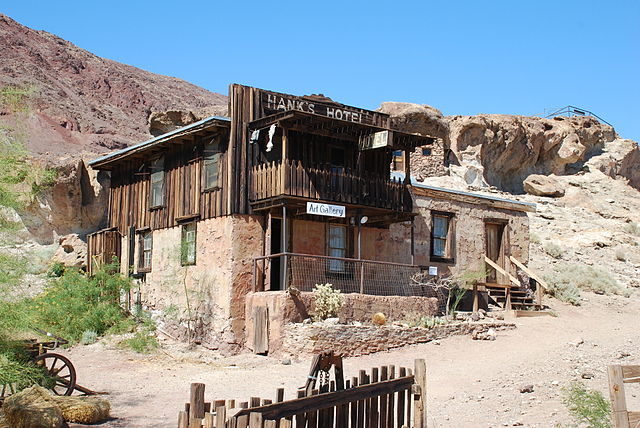 Hank's Hotel at Calico Ghost Town, California.