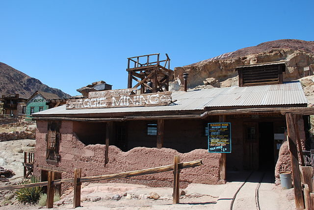 Maggie Silver Company and mine, Calico Ghost Town, California.