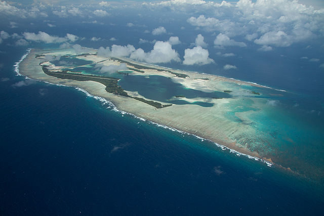 Palmyra Atoll viewed from the northwest, 2011