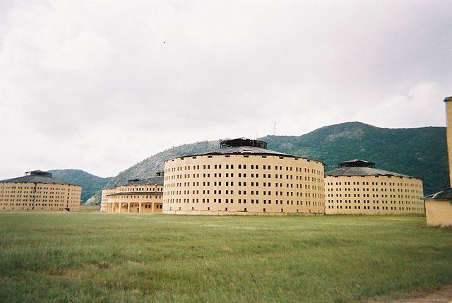 """The prison """"Presidio Modelo"""" on the island Isla de la Juventud, Cuba."""