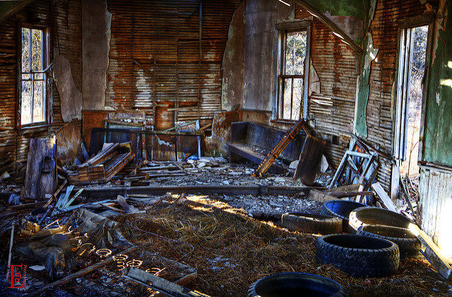 Abandoned interior. Author:Patrick EmersonCC BY-ND 2.0