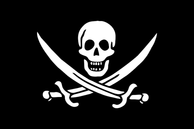 An 18th-century pirate flag.