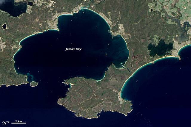 Arial view of Jervis Bay. Author:NASA