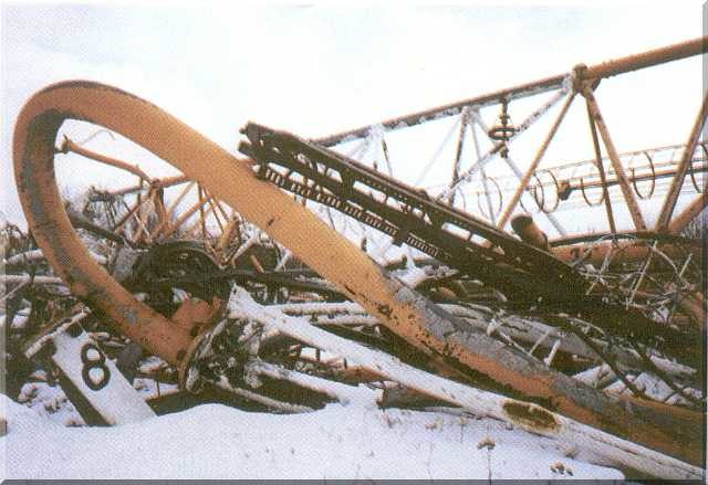 On August 8 1991 at 4pm UTC the mast collapsed.