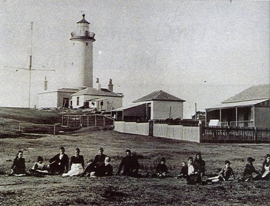 Historic photo of the lighthouse.