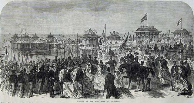 The opening of West Pier 1866. Author:the Illustrated London NewsPublic Domain