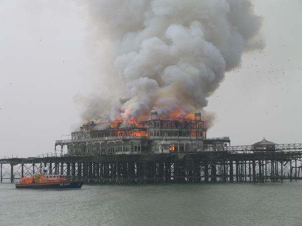 West Pier fire. Author:Mark HarrisPublic Domain