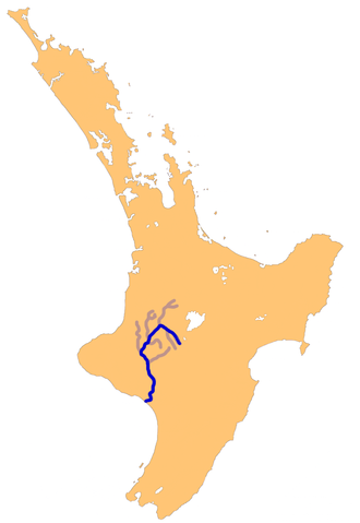 The Whanganui River system in the North Island, NZ