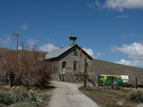 Old Schoolhouse, Unionville, Nevada – Author: Ken Lund – CC BY 2.0