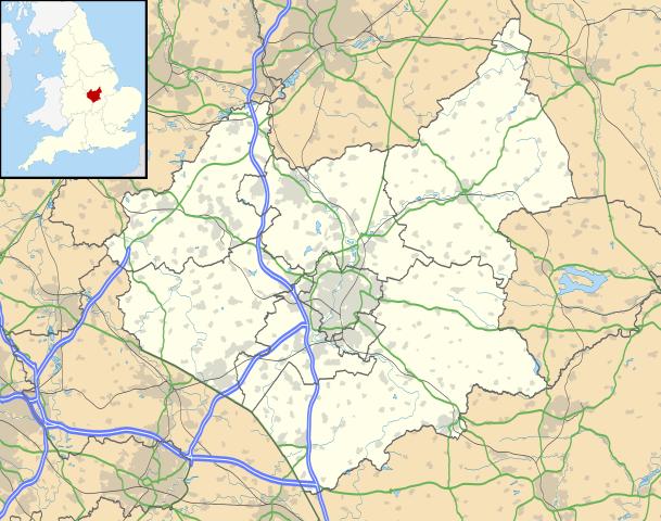 Location of Leicestershire/ Author: Nilfanion (created using Ordnance Survey data) – CC BY-SA 3.0