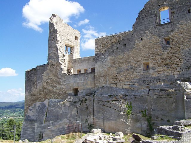 Ruins of the Château de Lacoste, one of three residences of the Marquis de Sade in Vaucluse