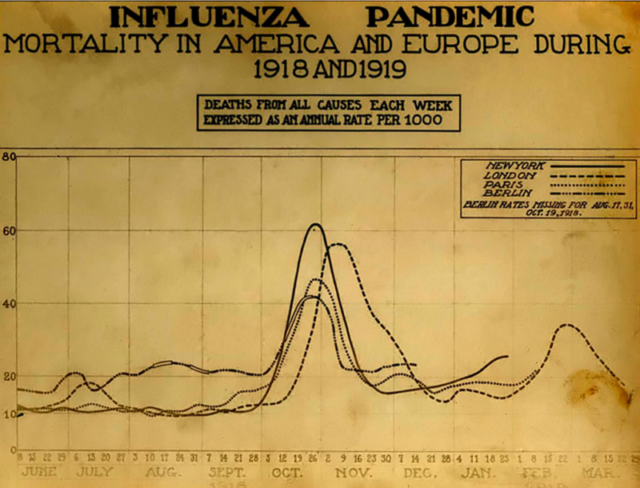 A chart of deaths in major cities. Author:National Museum of Health and Medicine
