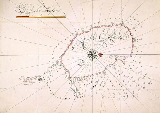 An old map of the island. Author: Atlas of Mutual Heritage