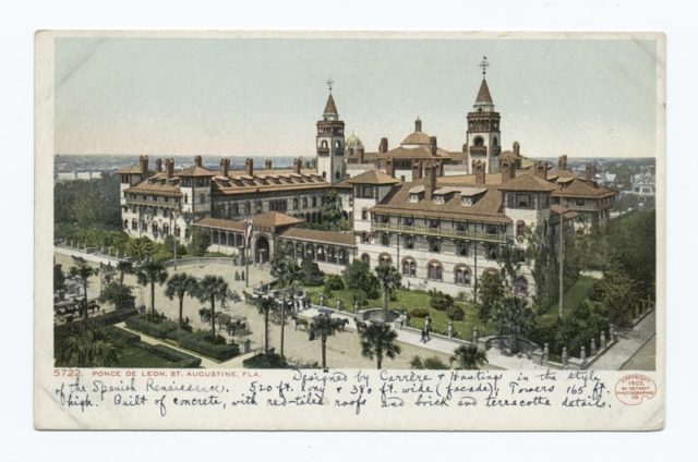 Old postcard showing the hotel. Author:Detroit Publishing Company