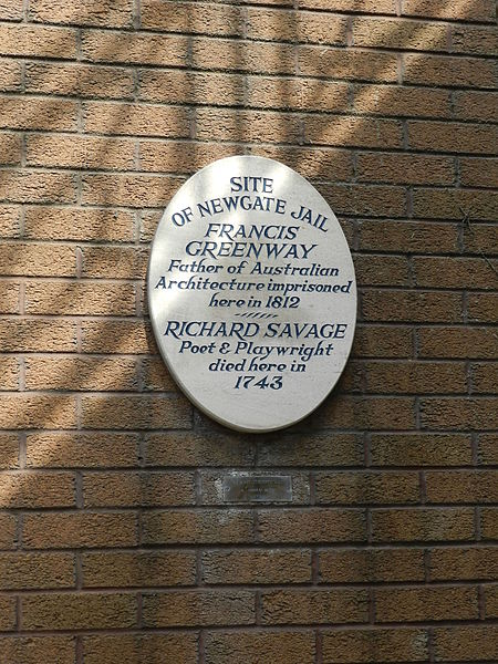 Plaque on Site of Newgate Prison. Author:Graham Tiller –CC BY 2.0