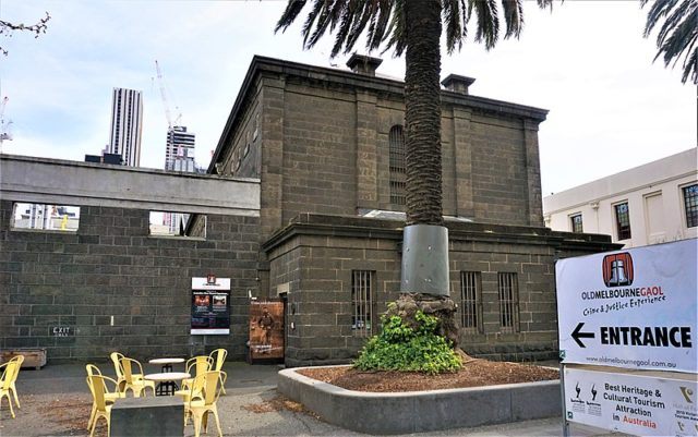 The Old Melbourne Gaol. Author:Joyofmuseums –CC BY-SA 4.0