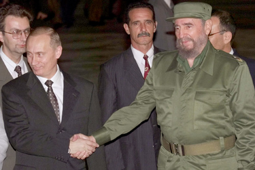 Russian President Vladimir Putin and Cuban leader Fidel Castro agreed to abandon the project after Putin's visit to La Havana in December 2000 – Author: Kremlin.ru – CC BY 4.0