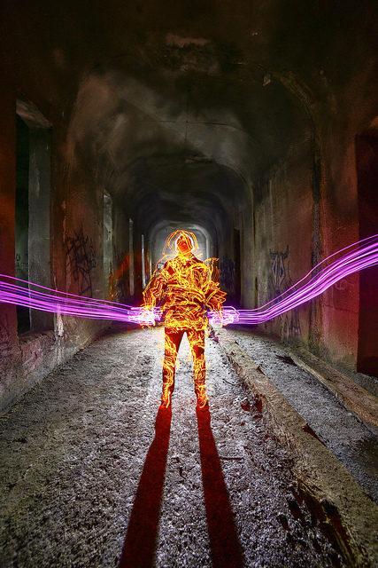 Artist installation inside the Cincinnati Subway Tunnels – Author: Aaron Bauer – CC BY 2.0