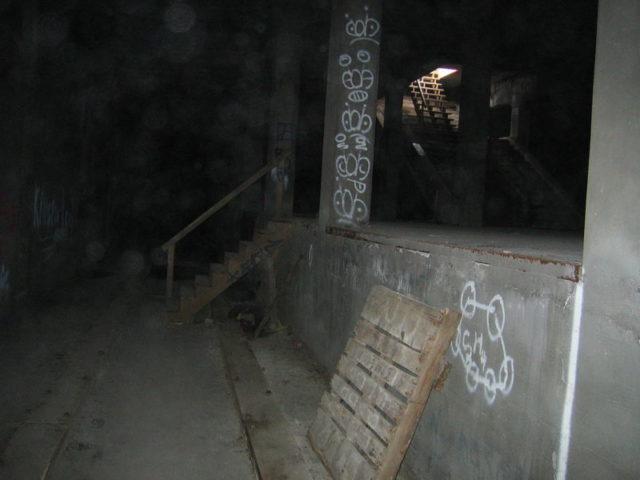 A station platform and unlaid trackbed