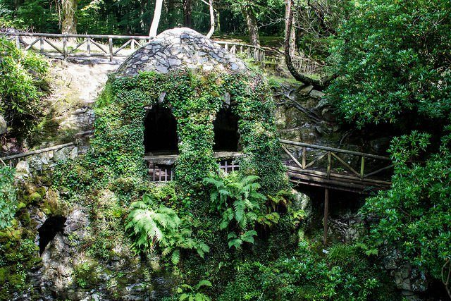 """The Hermitage in Tollymore Forest Park. The forest covers an area of 630 hectares at the foot of the Mourne Mountains and has been used as a filming location for the TV series """"Game of Thrones."""" Channing Brown CC BY-NC 2.0"""