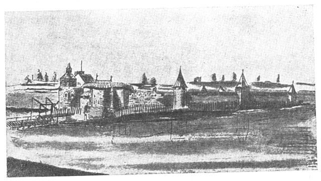 A drawing from the castle from 1661
