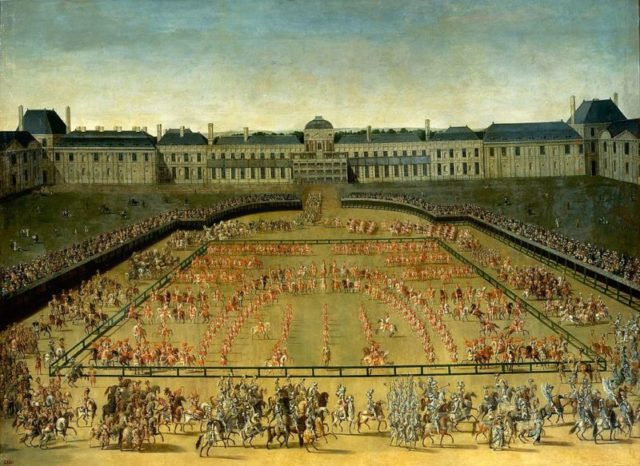A celebration in front of the palace.
