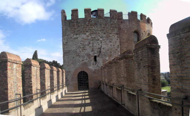 A restored section of the wall.