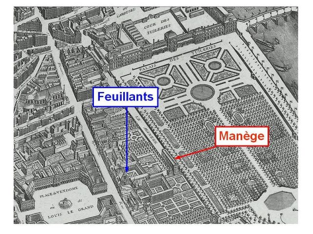 Buildings of the Salle du Manège and the Couvent des Feuillants.