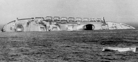 On the night of July 25, 1956, the Italian ocean liner SS Andrea Doria was struck by the Swedish ship MS Stockholm in heavy fog off the coast of Nantucket.