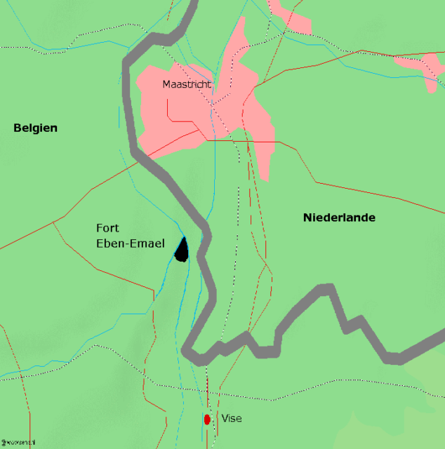 Map of the area between Belgium and the Netherlands near Fort Eben-Emael/ Author: Markus Schweiss – CC BY-SA 3.0