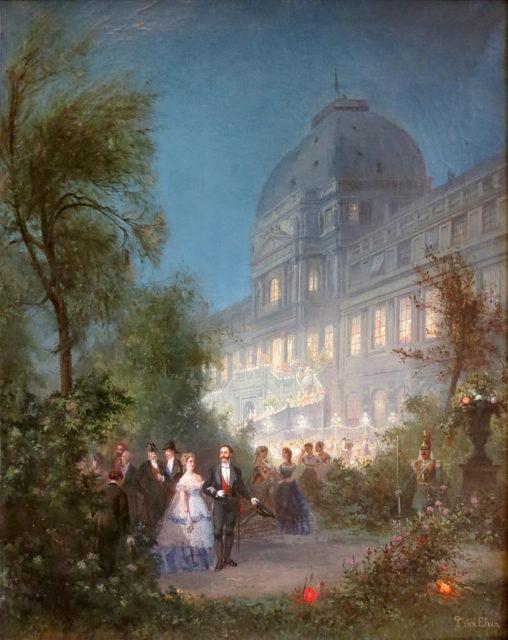 Fête de nuit aux Tuileries.