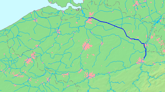 The Albert Canal connects Liège to Antwerp via Hasselt