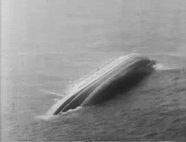 SS Andrea Doria capsizing.