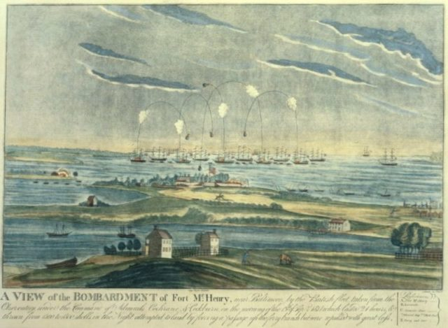 The Bombardment of Fort McHenry.