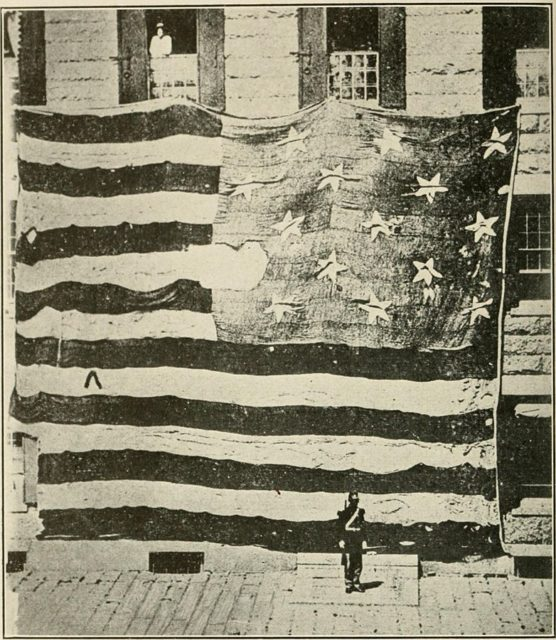 The flag that flew over Fort McHenry during its bombardment.