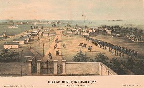 The fort circa 1861.