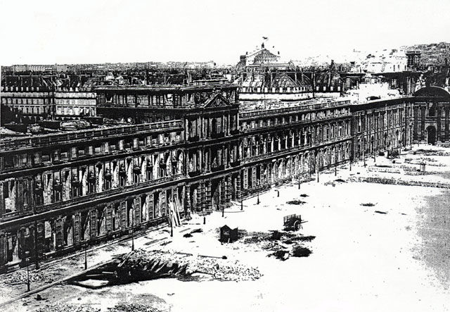 Tuileries Palace after the 1871 fire.