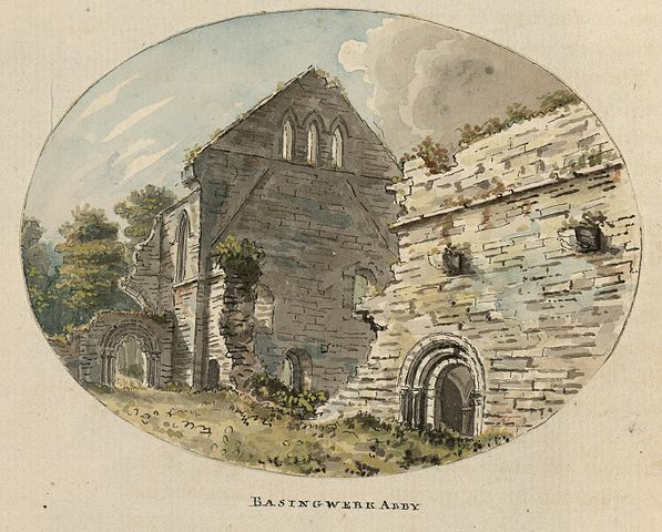 A miniature of the abbey done by the Welsh engraver and watercolorist Moses Griffiths, c.1778
