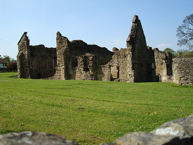 The picturesque remains of Basingwerk Abbey