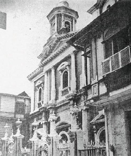 Historic photo of San Ignacio Church.