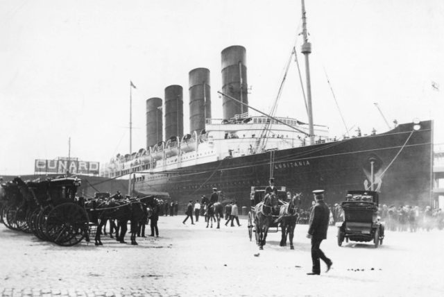 Lusitania on her maiden voyage.