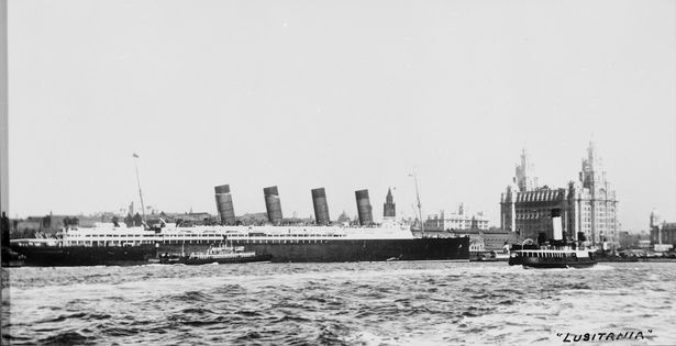 Lusitania: The Cunard liner at Liverpool