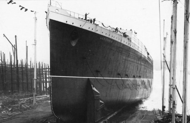 Lusitania's launch.