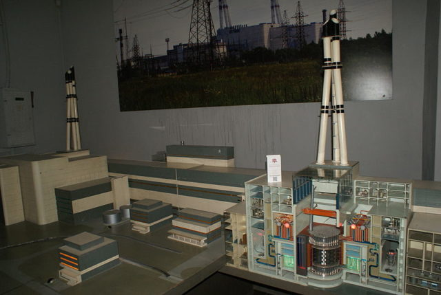 Model of the nuclear power plant. Author:Хомелка –CC BY-SA 3.0
