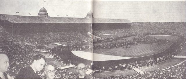 Old photo of the stadium in 1954.