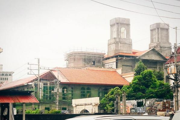 Photo of the church being reconstructed. Author:Intramuros Administration –CC BY 4.0