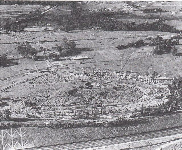 Where Watkin's Tower once stood. Author:Simmons Aerofilms
