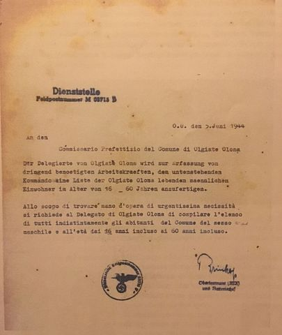 A document sent to Olgiate Olona's city hall from the company who built the bunker/ Author: Rockycookies11 – CC BY-SA 4.0