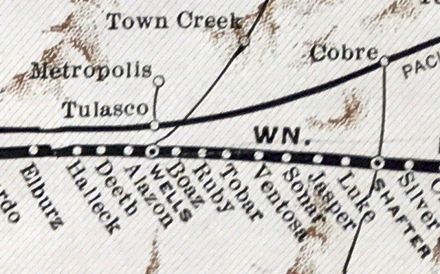 Map of Missouri Pacific Railway route in 1931